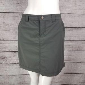 Eddie Bauer 10 Travex Skort Skirt Military Green